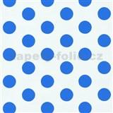 Tapety na stenu Die Maus bodky modré na bielom podklade