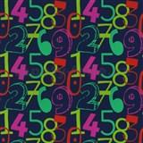 Tapety na stenu Die Maus farebné číslice na modrom podklade - POSLEDNÉ KUSY