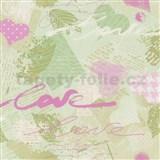 Papierové tapety na stenu Dieter Bohlen - Love zelené