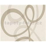 Vliesové tapety na stenu Fleece Royal nepravidelné vlny hnedé