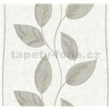 Vliesové tapety na stenu Easy Wall listy hnedé
