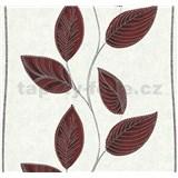 Vliesové tapety na stenu Easy Wall listy tmavo červené