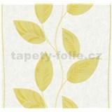 Vliesové tapety na stenu Easy Wall listy žlté