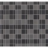 Vliesové tapety na stenu Easy Wall obklad kachličky hnedé, sivé, čierné