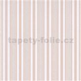 Vliesové tapety na stenu IMPOL Effecto pruhy ružovo-biele s trblietkami