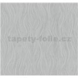 Vliesové tapety na stenu Einfach Schoner vlnovky sivé s trblietkami - POSLEDNÝ KUS