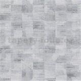 Vliesové tapety na stenu Ella štruktúrované kocky sivo-strieborné