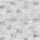 Vliesové tapety na stenu Ella štruktúrované kocky sivo-čierne
