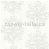 Vliesové tapety na stenu Elle Decoration zámocký vzor bielo-sivý na bielom podklade