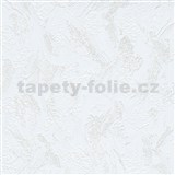Vliesové tapety na stenu Grafics & Basics biela stierkovaná omietka hrubá s trblietkami