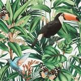 Vliesové tapety na stenu IMPOL Paradisio 2 fauna a flora na krémovom podklade