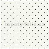 Vliesové tapety na stenu Freestyle bodky čierne na bielom podklade