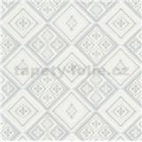 Vliesové tapety na stenu Eyecatcher kachličky sivé