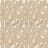 Vliesové tapety na stenu Instawalls moderný vzor zlato-hnedý na krémovom podklade