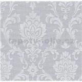Vliesové tapety na stenu Classic zámocký vzor sivý