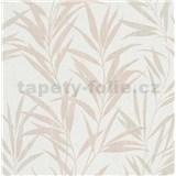 Vliesové tapety na stenu Mix Up bambusové listy hnedé a biele