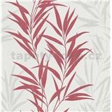 Vliesové tapety na stenu Mix Up bambusové listy červené a biele