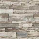 Papierové tapety na stenu Imitations drevený obklad hnedo-sivý