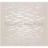 Vliesové tapety Estelle abstrakt metalický zlato-strieborný