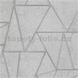 Vliesové tapety na stenu Exposure vápencové obklady sivé so striebornými švami