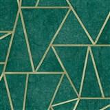 Vliesové tapety na stenu IMPOL Exposure SOHO zelené so zlatými švami