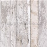 Vliesové tapety na stenu Exposure drevené dosky s patinou hnedé
