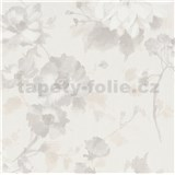 Vliesové tapety na stenu G.M.K. Fashion for walls kvety sivo-hnedé na krémovom podklade