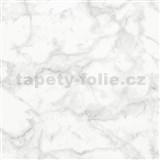Vliesové tapety na stenu Felicita mramor Carrara sivý matný