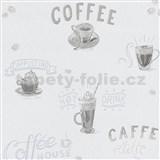 Vliesové tapety na stenu IMPOL Finesse Coffee sivé