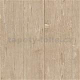 Vliesové tapety na stenu IMPOL Finesse drevo hnedé