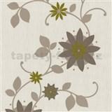 Tapety na stenu Flair - kvet hviezdový - hnedý