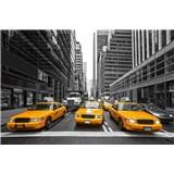 Vliesové fototapety žlté taxíky rozmer 375 cm x 250 cm