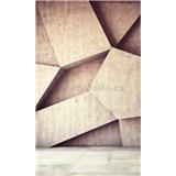 Vliesové fototapety 3D geometrické tvary rozmer 150 cm x 250 cm