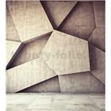 Vliesové fototapety 3D geometrické tvary rozmer 225 cm x 250 cm