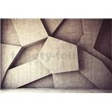 Vliesové fototapety 3D geometrické tvary rozmer 375 cm x 250 cm