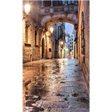 Vliesové fototapety starobylé ulice rozmer 150 cm x 250 cm