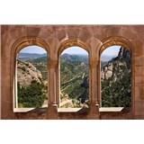 Vliesové fototapety oblúkové okná rozmer 375 cm x 250 cm