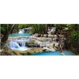 Vliesové fototapety vodopády rozmer 375 cm x 150 cm