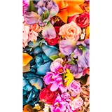 Vliesové fototapety vintage kvety rozmer 150 cm x 250 cm