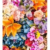 Vliesové fototapety vintage kvety rozmer 225 cm x 250 cm