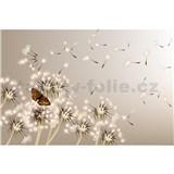 Vliesové fototapety púpavy a motýle rozmer 375 cm x 250 cm