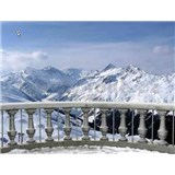 Vliesové fototapety snežná terasa, rozmer 312 x 219 cm