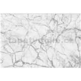 Vliesové fototapety mramor biely rozmer 375 cm x 250 cm