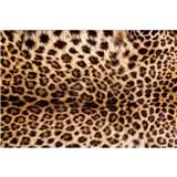 Vliesové fototapety leopardia koža rozmer 375 cm x 250 cm