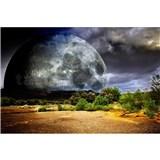 Vliesové fototapety mesiac rozmer 375 cm x 250 cm