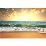 Vliesové fototapety slnko v mori rozmer 375 cm x 250 cm