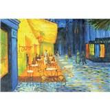 Vliesové fototapety terasa kaviarne v noci - Vincent Van Gogh rozmer 375 cm x 250 cm