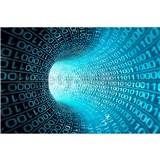 Vliesové fototapety binárny prúd rozmer 375 cm x 250 cm