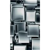 Vliesové fototapety kovové kocky rozmer 150 cm x 250 cm