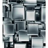 Vliesové fototapety kovové kocky rozmer 225 cm x 250 cm